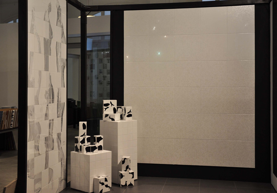 Showroom Appiani Floor mosaic and exterior wall covering